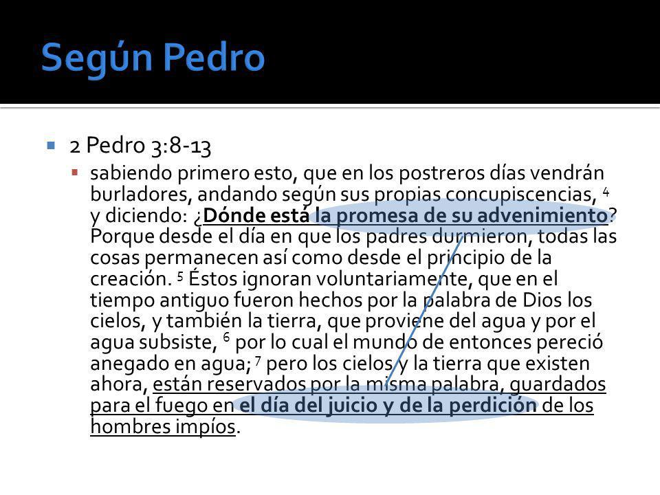 Según Pedro 2 Pedro 3:8-13.