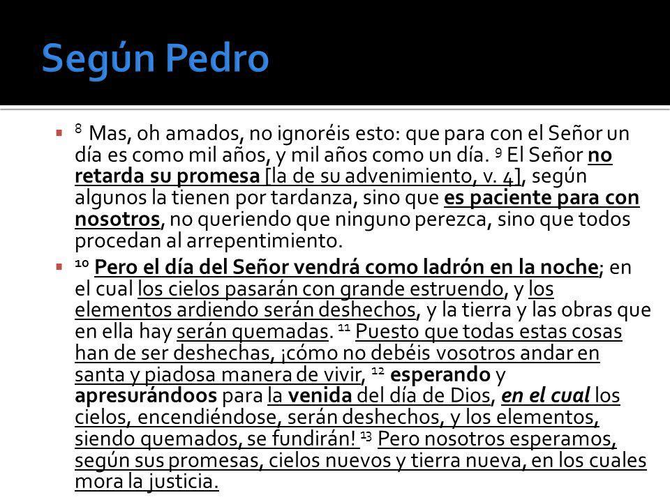 Según Pedro