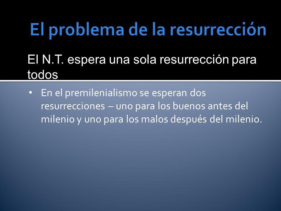 El problema de la resurrección