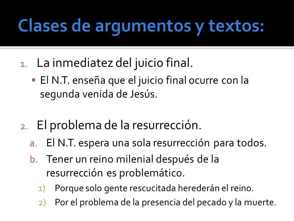Clases de argumentos y textos: