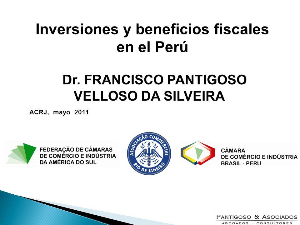 Inversiones y beneficios fiscales en el Perú
