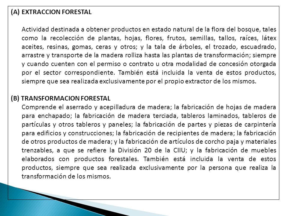 EXTRACCION FORESTAL