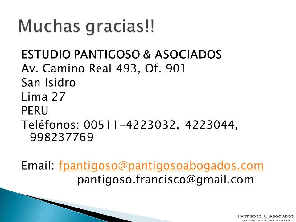 Muchas gracias!! ESTUDIO PANTIGOSO & ASOCIADOS
