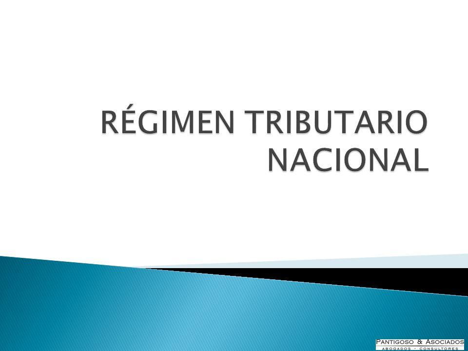 RÉGIMEN TRIBUTARIO NACIONAL