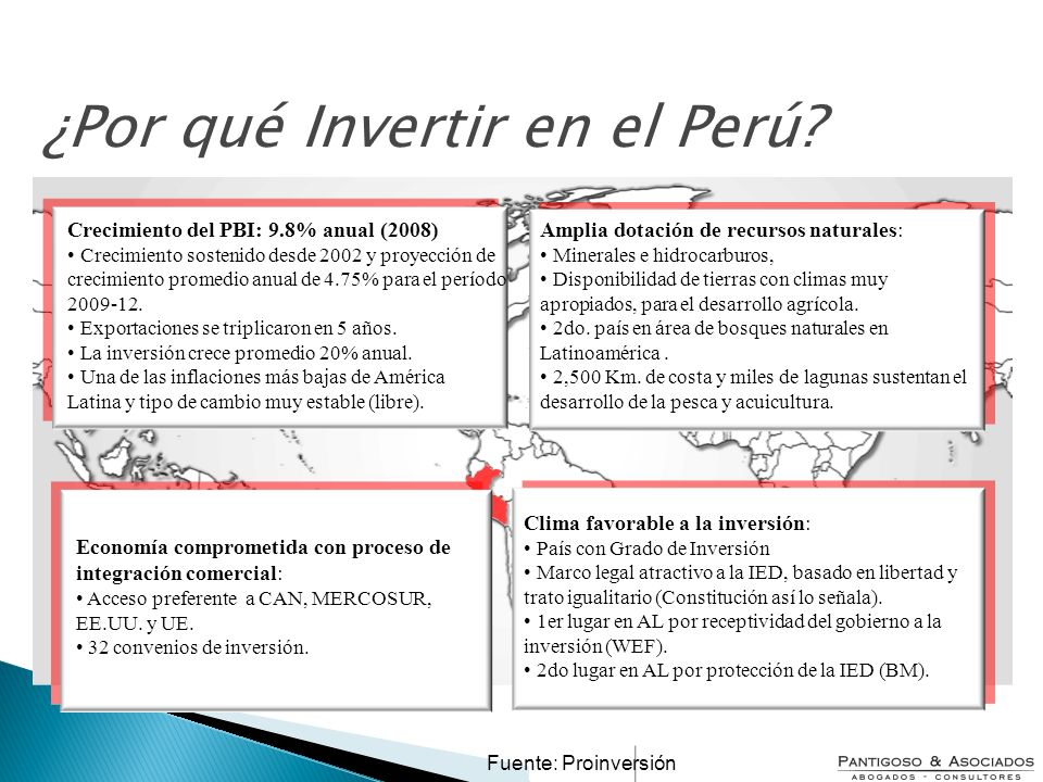 ¿Por qué Invertir en el Perú