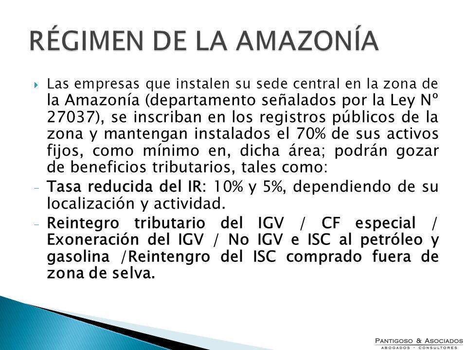 RÉGIMEN DE LA AMAZONÍA