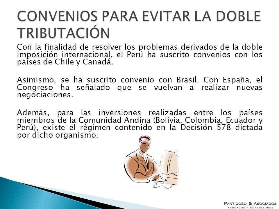 CONVENIOS PARA EVITAR LA DOBLE TRIBUTACIÓN