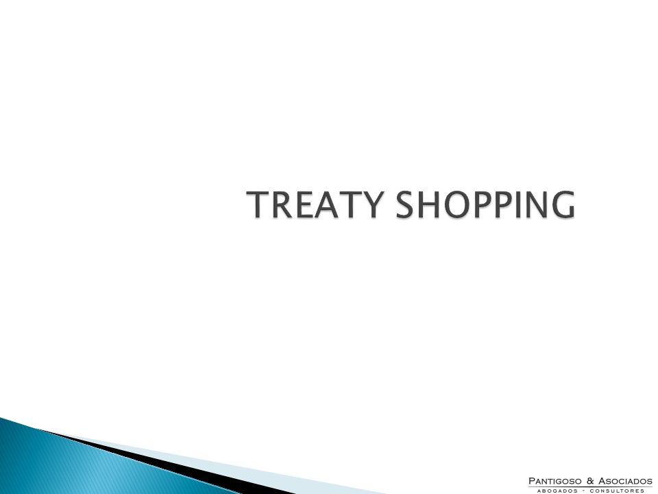 TREATY SHOPPING