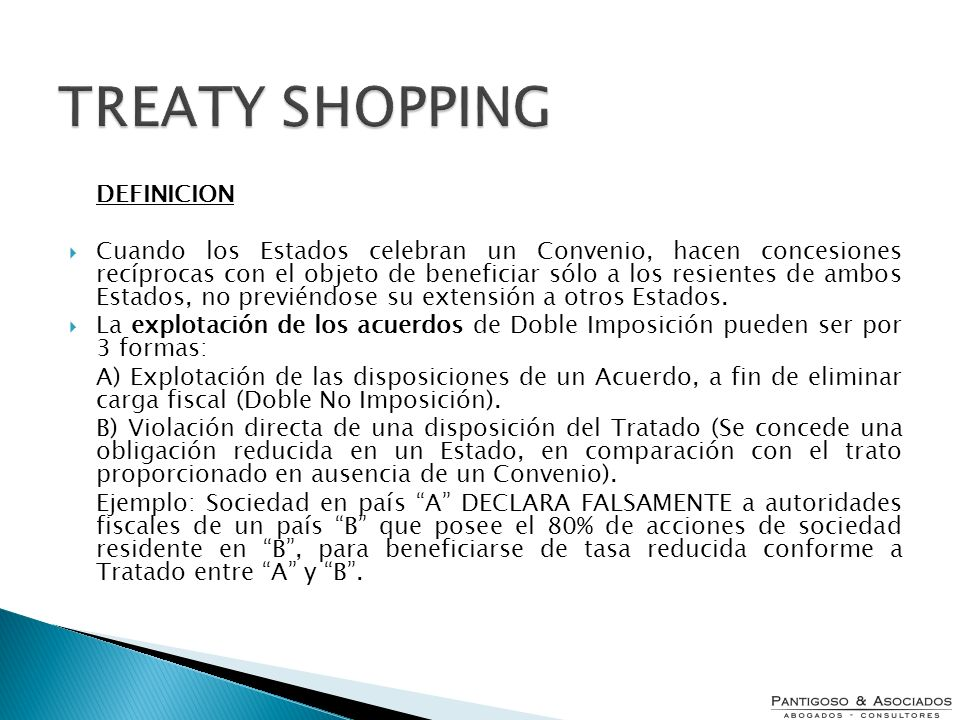 TREATY SHOPPINGDEFINICION.