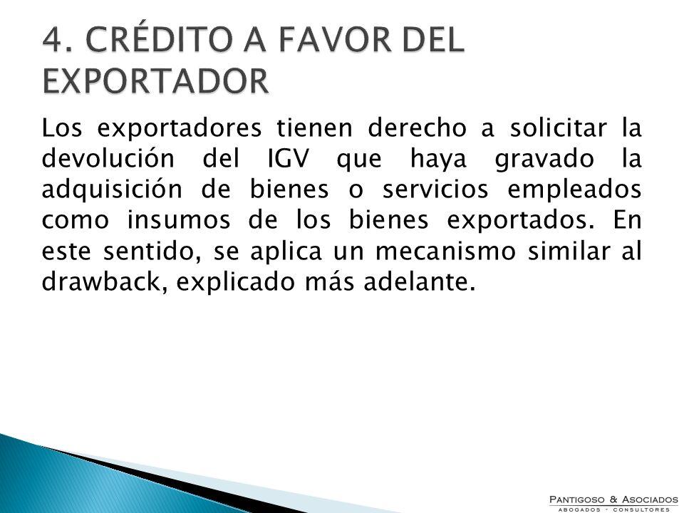 4. CRÉDITO A FAVOR DEL EXPORTADOR