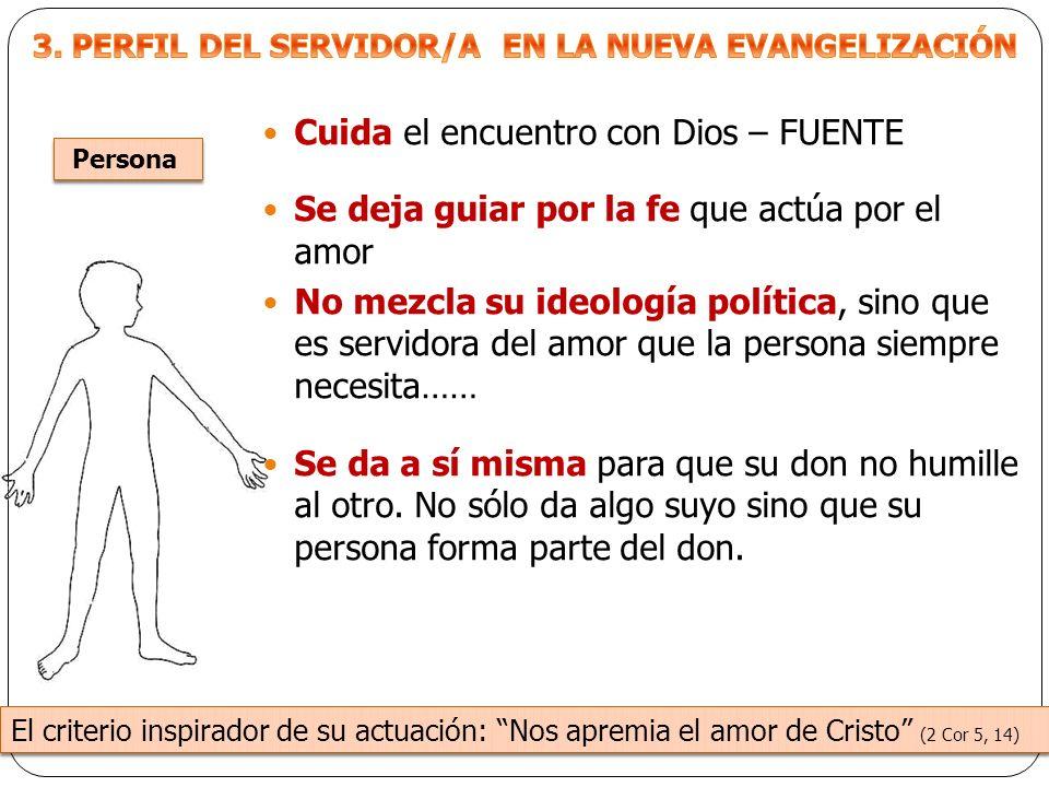 3. PERFIL DEL SERVIDOR/A EN LA NUEVA EVANGELIZACIÓN