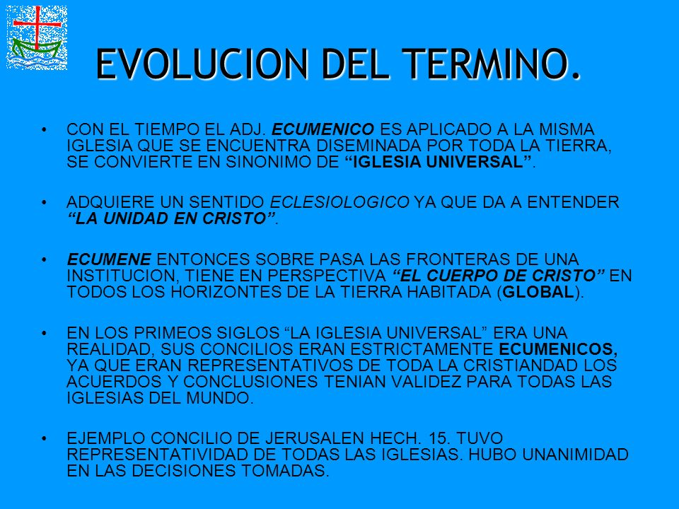 EVOLUCION DEL TERMINO.