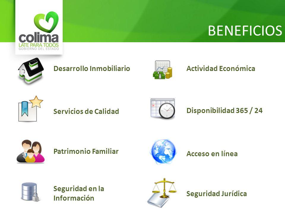 BENEFICIOS Desarrollo Inmobiliario Actividad Económica