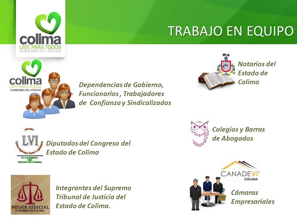 TRABAJO EN EQUIPO Notarios del Estado de Colima