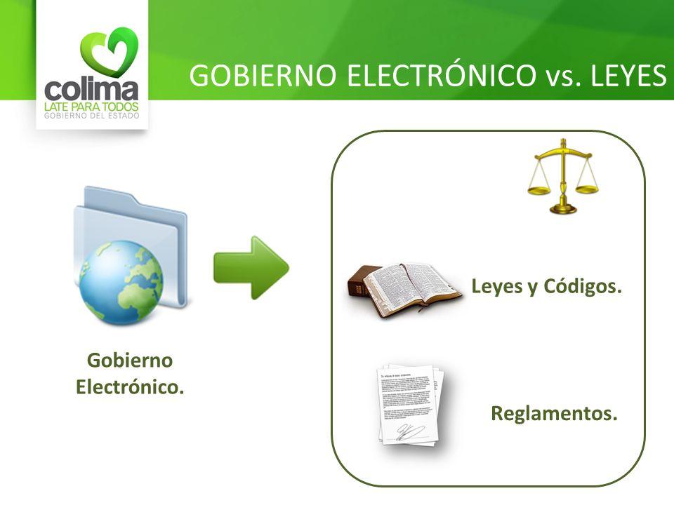 GOBIERNO ELECTRÓNICO vs. LEYES