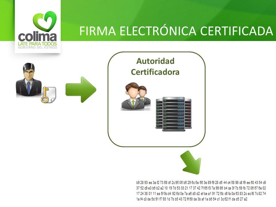 FIRMA ELECTRÓNICA CERTIFICADA
