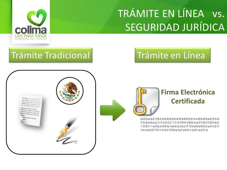 TRÁMITE EN LÍNEA vs. SEGURIDAD JURÍDICA