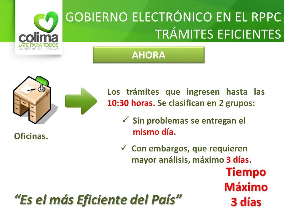 GOBIERNO ELECTRÓNICO EN EL RPPC TRÁMITES EFICIENTES