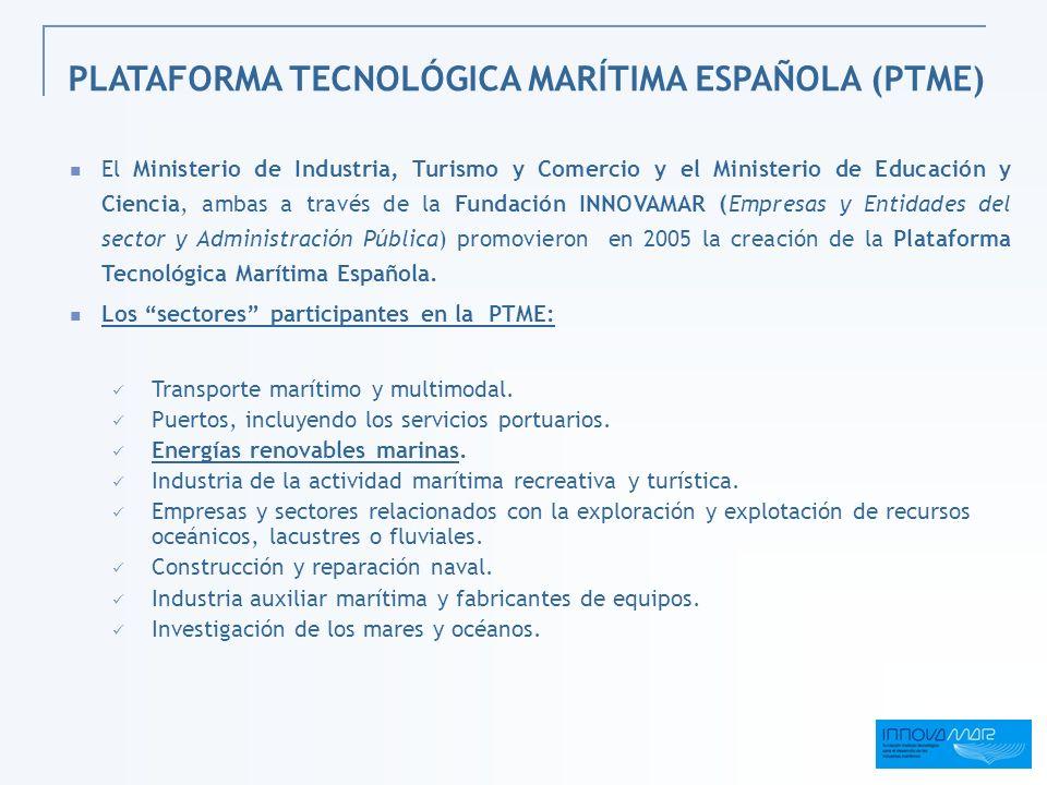 PLATAFORMA TECNOLÓGICA MARÍTIMA ESPAÑOLA (PTME)