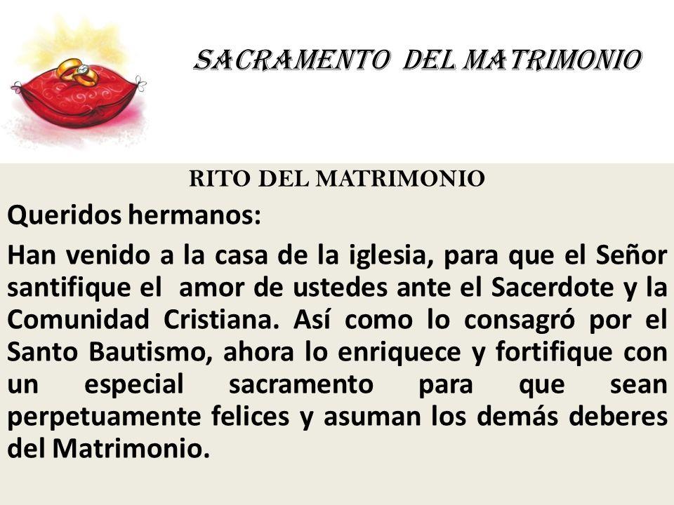 Rito Del Matrimonio Catolico : Sacramento del matrimonio ppt video online descargar