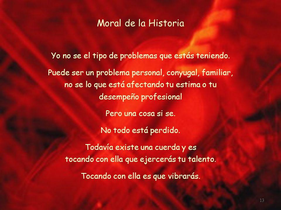 Moral de la Historia Yo no se el tipo de problemas que estás teniendo.