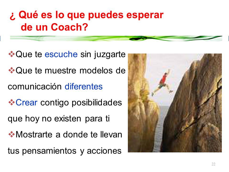 ¿ Qué es lo que puedes esperar de un Coach