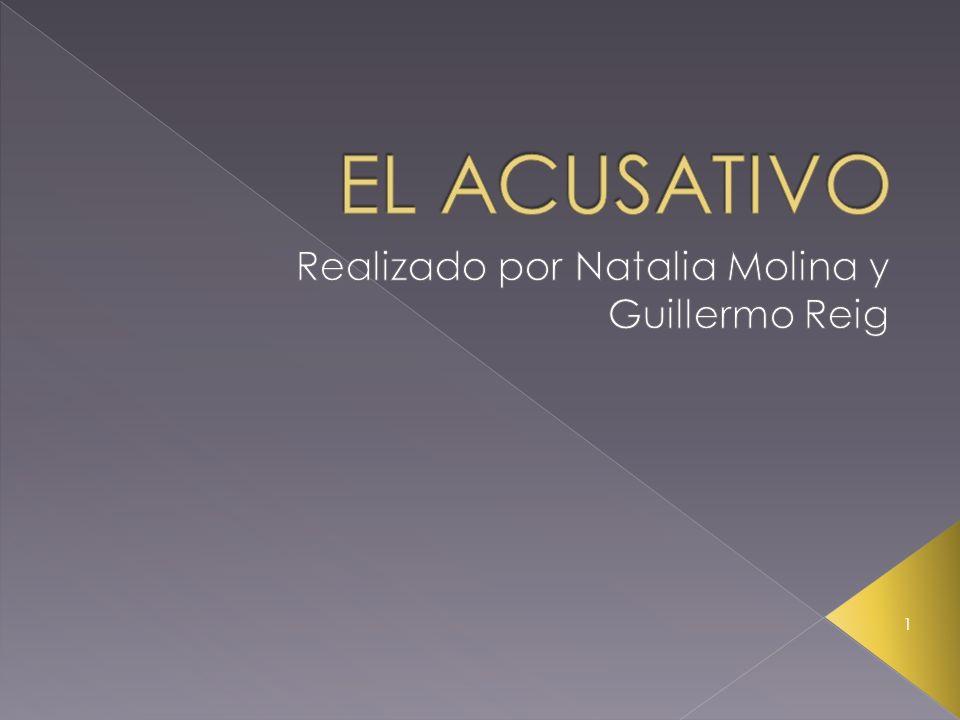 Realizado por Natalia Molina y Guillermo Reig