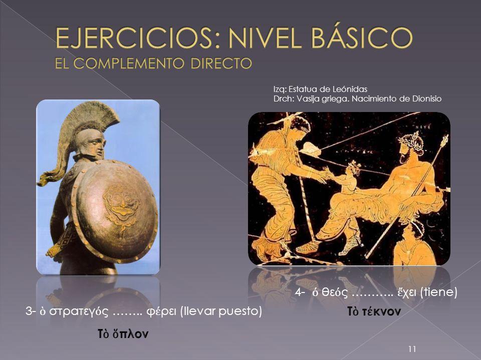 EJERCICIOS: NIVEL BÁSICO EL COMPLEMENTO DIRECTO
