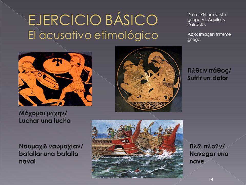 EJERCICIO BÁSICO El acusativo etimológico