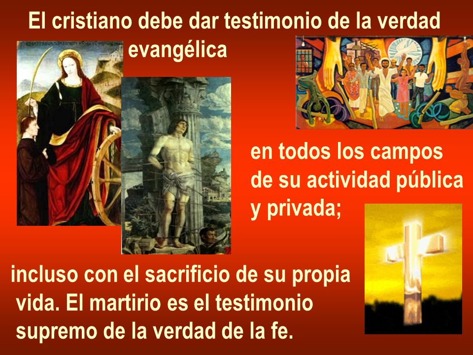 El cristiano debe dar testimonio de la verdad