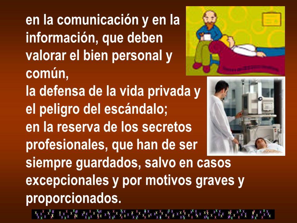 en la comunicación y en la