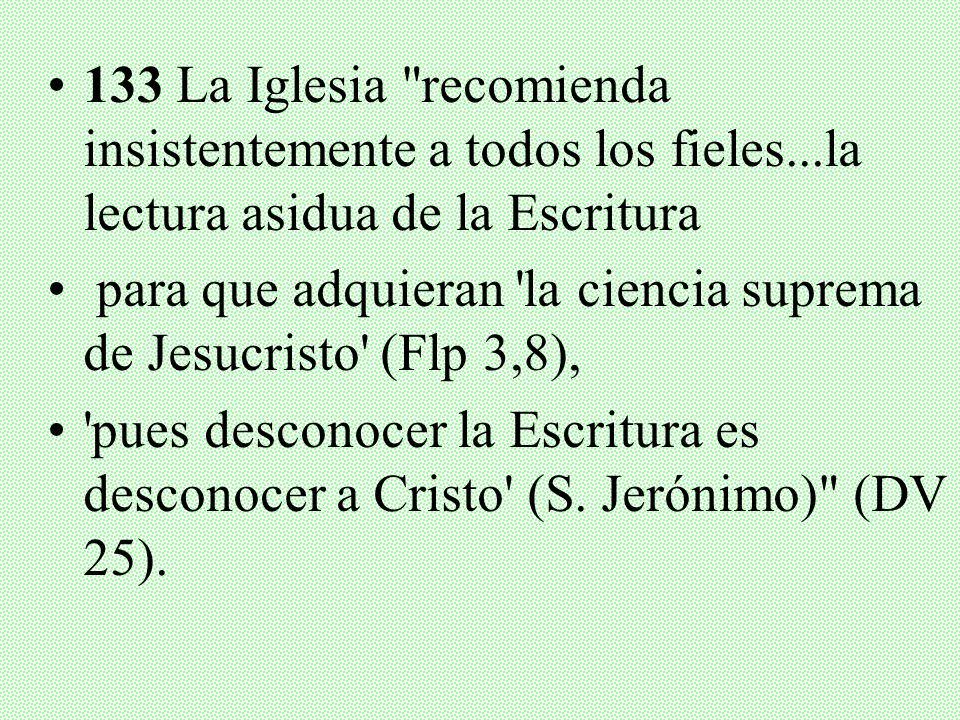 133 La Iglesia recomienda insistentemente a todos los fieles