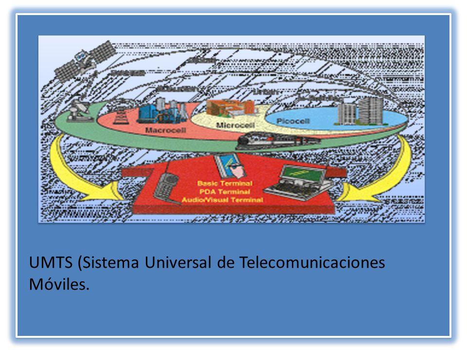 UMTS (Sistema Universal de Telecomunicaciones Móviles.