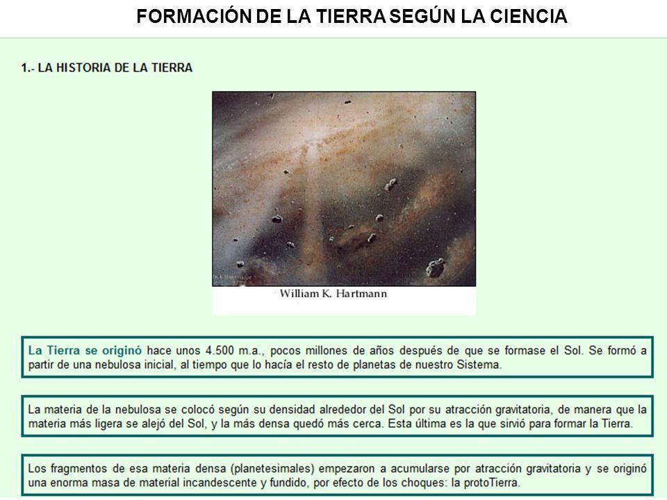FORMACIÓN DE LA TIERRA SEGÚN LA CIENCIA
