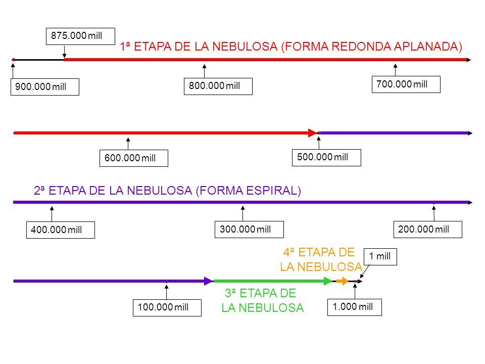 1ª ETAPA DE LA NEBULOSA (FORMA REDONDA APLANADA)
