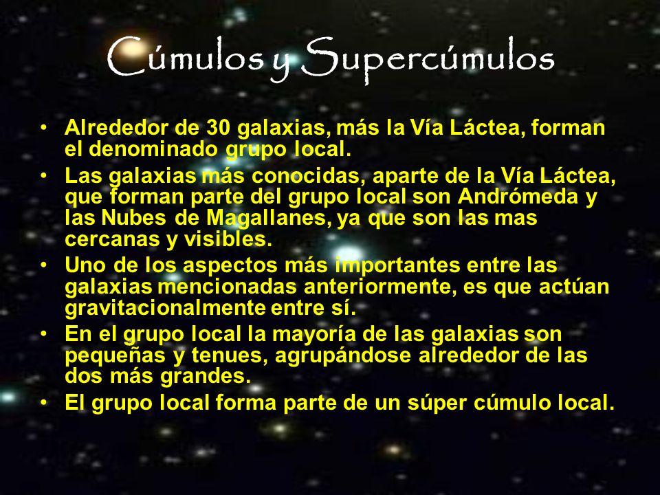 Cúmulos y Supercúmulos