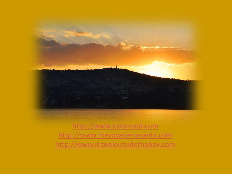 http://www.solocreed.com http://www.mevoyatierrasanta.com http://www.itraveloutsidethebox.com