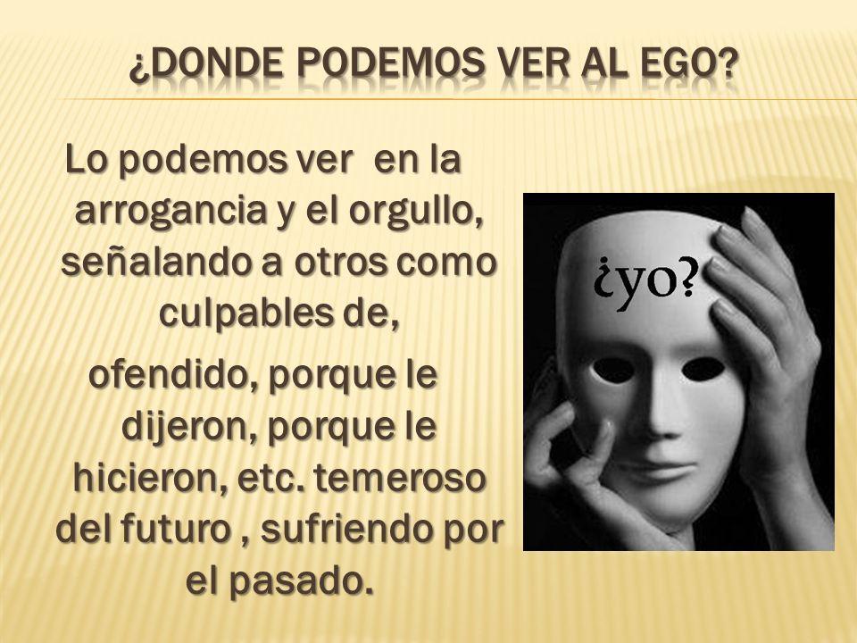 ¿Donde podemos ver al ego