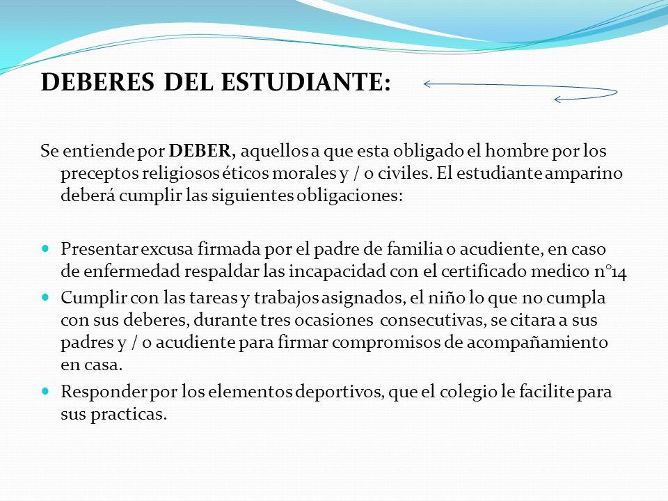 DEBERES DEL ESTUDIANTE: