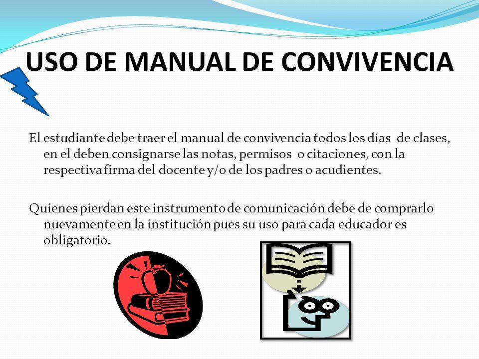 USO DE MANUAL DE CONVIVENCIA