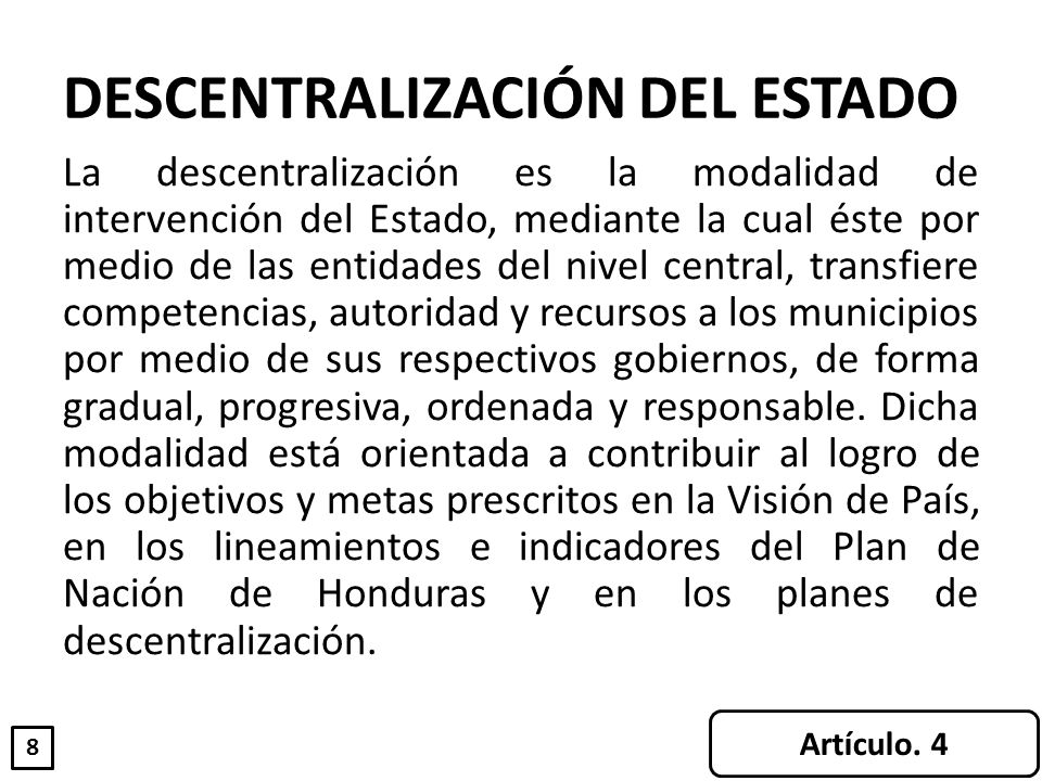 DESCENTRALIZACIÓN DEL ESTADO