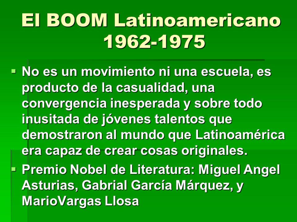 El BOOM Latinoamericano 1962-1975