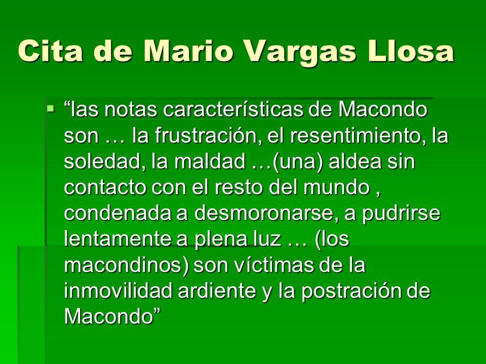 Cita de Mario Vargas Llosa