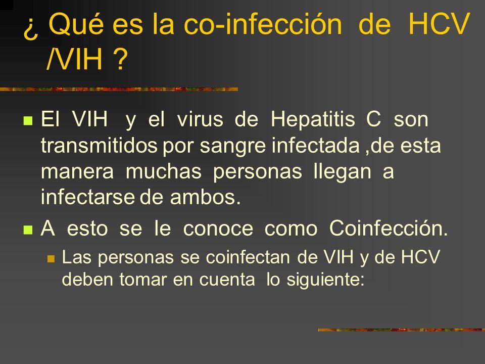¿ Qué es la co-infección de HCV /VIH