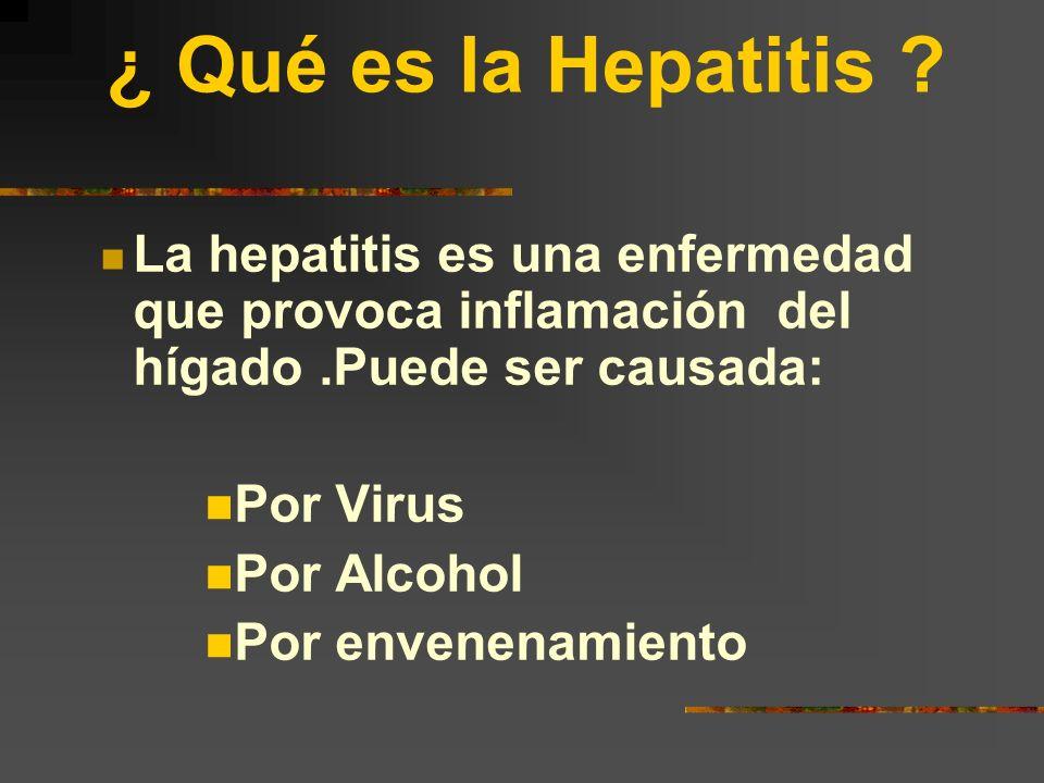 ¿ Qué es la Hepatitis La hepatitis es una enfermedad que provoca inflamación del hígado .Puede ser causada: