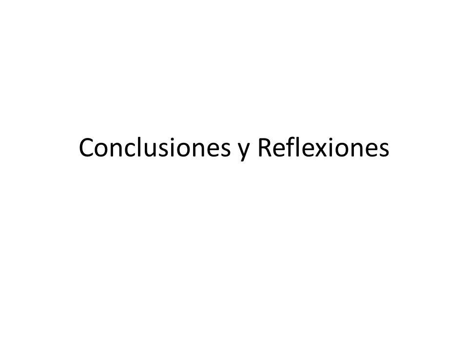 Conclusiones y Reflexiones