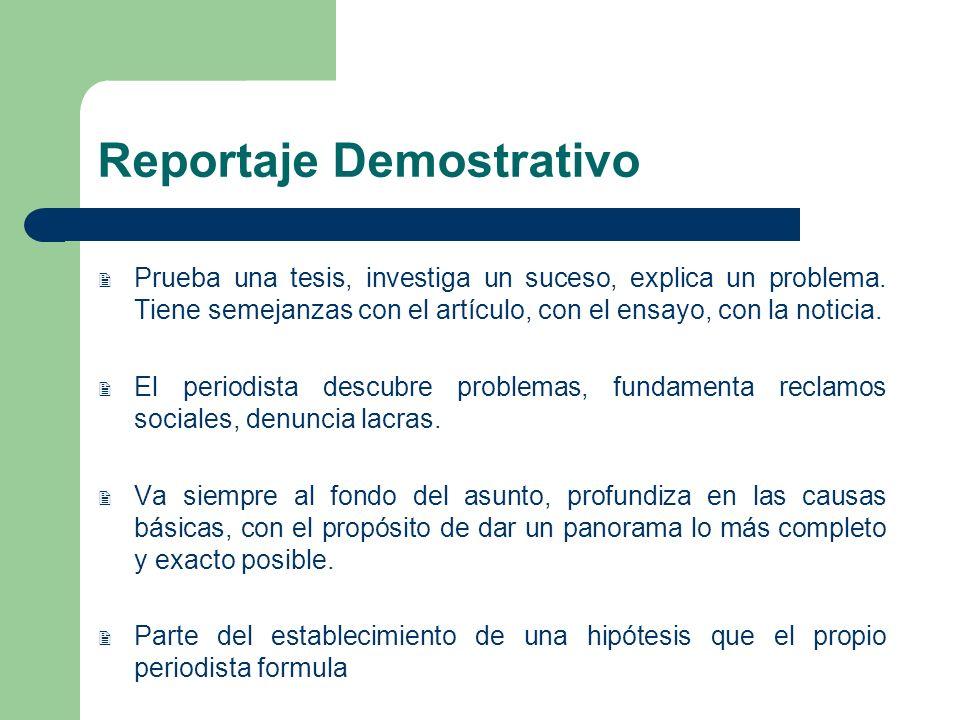 Reportaje Demostrativo