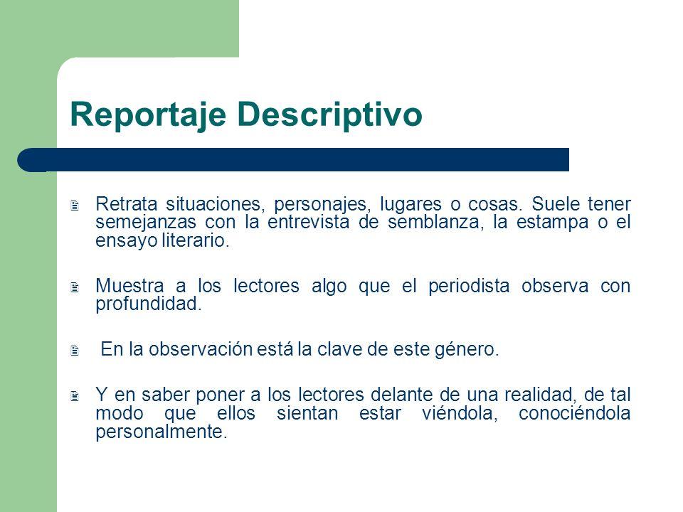Reportaje Descriptivo