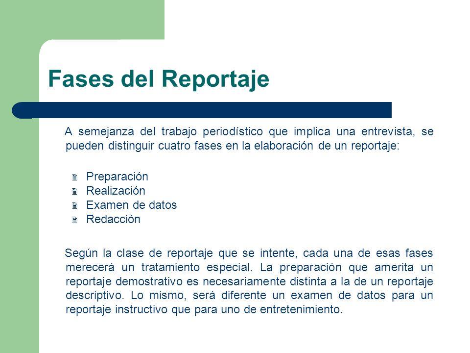 Fases del Reportaje