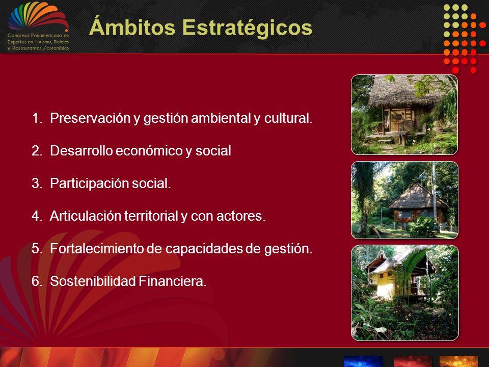 Ámbitos Estratégicos Preservación y gestión ambiental y cultural.